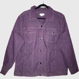 Purple Trucker Denim Jacket Womens Size 1X